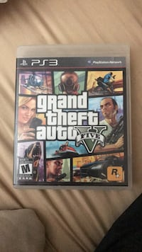 Grand Theft Auto Five PS3 game case Kitchener, N2K