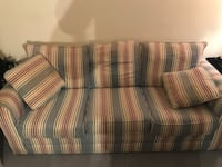 Striped couch w/queen pull out- Roxborough Philadelphia