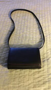 Black leather crossbody bag screenshot
