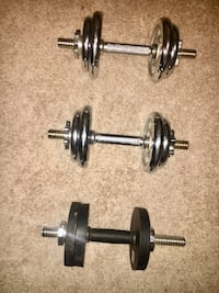 Dumbbell Free Weights 15-20pounds