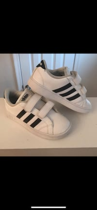 pair of white-and-black Adidas Superstar Woodbridge, 22191