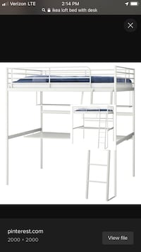 IKEA loft bed with shelf and desk Woodbridge, 22193