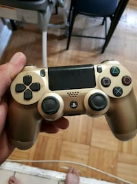 gray Sony PS4 wireless controller