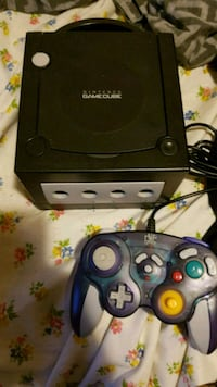 Black GameCube with controller