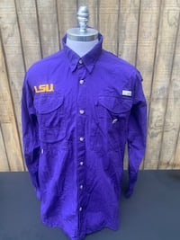 Columbia PFG Vented LSU Graphic  Fishing Shirt Mens Large