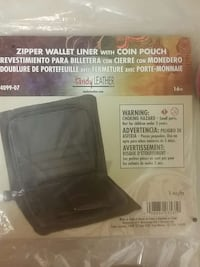 Tandy zipper wallet liner with coin pouch