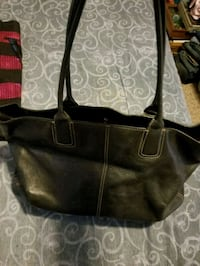 women's black and brown leather tote bag Union, 63084