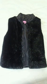 Kids Black Faux Fur Vest 40 km