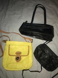 two yellow and black leather crossbody bags North Vancouver, V7K 2H4