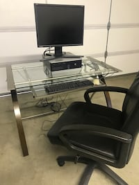 Computer Desk with Executive Leather Chair Upland, 91784