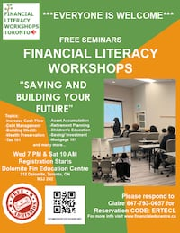 FREE CLASSES--- FINANCIAL EDUCATION - MILTON/OTTAWA/TORONTO Markham
