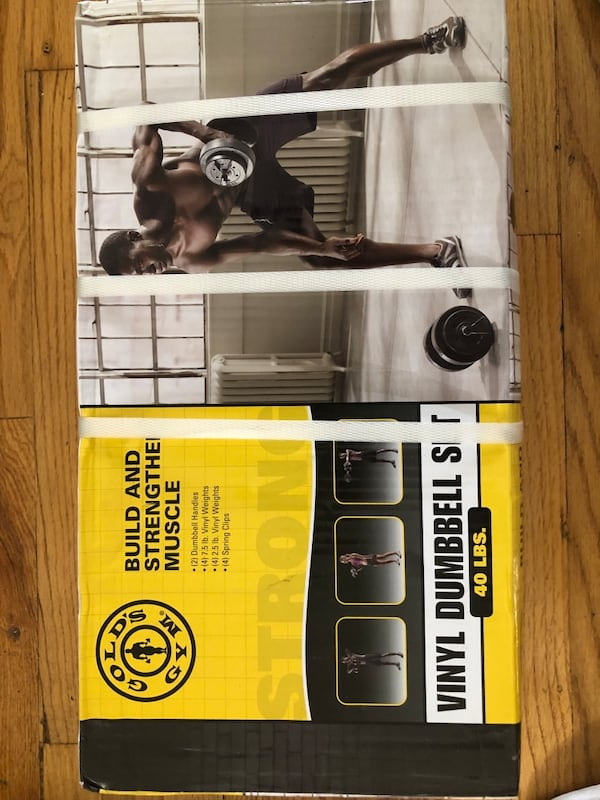 40LB Vinyl Dumbbell Set (Gold's Gym) 4dd53336-0f98-4220-9f79-90502496ca40