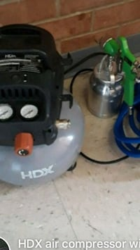 Air compressor with a brand new hose and brand new paint gun price not negotiable Reston, 20191