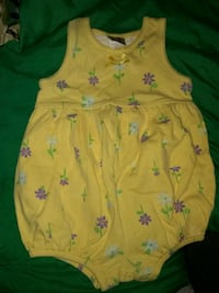 toddler's pink and green floral sleeveless dress