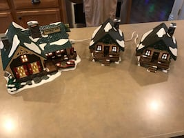 Department 56 Fisherman's nook with XTRA cabins