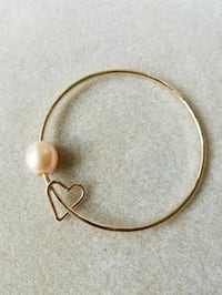 Genuine 14K GF Bangle w/Edison Pearl