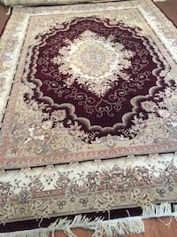 white, red, and black floral area rug Aurora, L4G 7G4