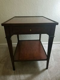 brown wooden single-drawer end table Silver Spring, 20903