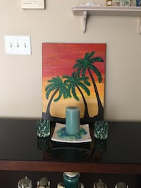 Acrylic Palm Tree Painting
