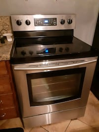 Samsung stainless steel glass top stove
