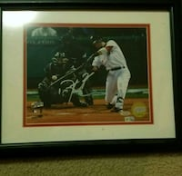Dustin Pedroia Autographed Framed Picture  New York, 10170