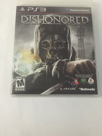 dishonored ps3 game case Islip, 11706