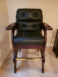 Leather Game Room Billiard Chairs.