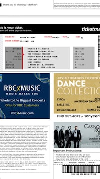 Two Wiggles concert tickets for Oct 13 show  Brampton, L6X