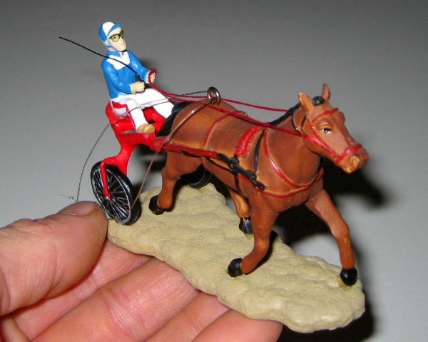 Christmas Horse Racing.Vintage Sulky Horse Racing Christmas Tree Ornaments Vintage Christmas