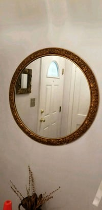 oval brown wooden framed mirror College Park, 20740