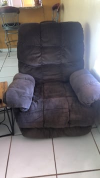brown suede recliner sofa chair 934 mi