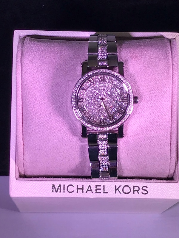 6a9d8d67575e Used NWT-Michael Kors silver   Swarovski Crystals for sale in Frisco - letgo