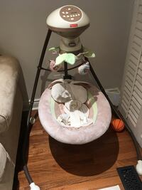 white and brown Fisher-Price cradle n swing Toronto, M6J 3T2