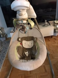 white and gray Fisher Price cradle n swing Toronto, M4N 1X8