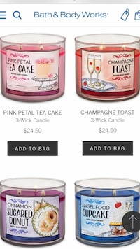 Bath and body 3 wick scented candles!