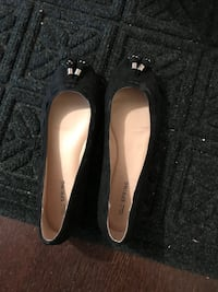 Brand new gold and black flats size 7