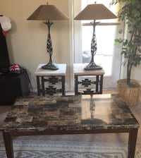 2 stone end tables, 2 lamps and coffee table Phoenix, 85024