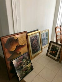 three brown wooden framed paintings Port St. Lucie, 34953