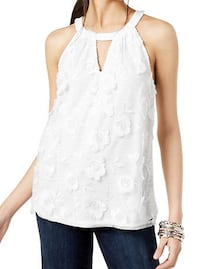 Floral Top White L Burnaby