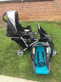 Graco DuoGlider click connect stroller and car seat with bases. Fairfax