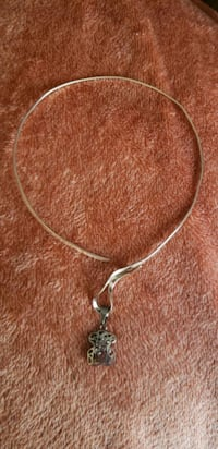 Sterling silver artisan design collar