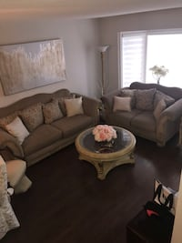 Sofa and loveseat with three matching tables Brampton, L6R 1K6