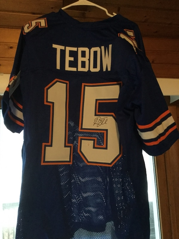 huge discount 0ad23 9fbad Tim Tebow Florida Gators signed autographed football jersey Certified COA