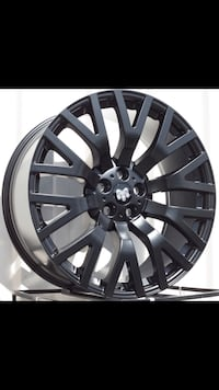"Range Rover factory style Blk new 22"" rims tires set"