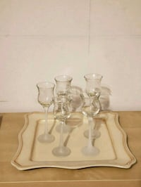 PartyLite Tray and 5 Glass Tealight  holders Woodbridge, 22193