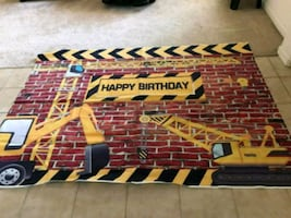 Construction theme party decoration