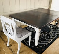 Farmhouse Dining Table! Weathered Gray with Paris Fabric! Oregon City, 97045