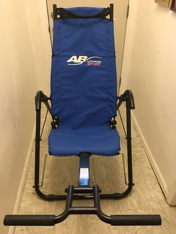 Blue and black ab lounge inversion table