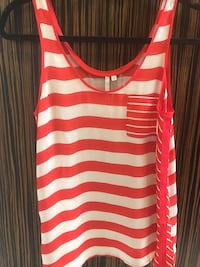 women's white and red sleeveless top Toronto, M6B 2N2