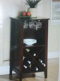 Dark wooden wine cabinet